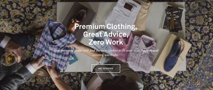 Trunk Club Hero Image Example