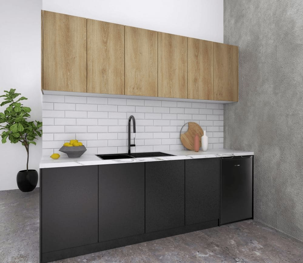 Photorealistic 3d Render of Architecturally Designed Commercial Kitchen Interior - Sovereign BP