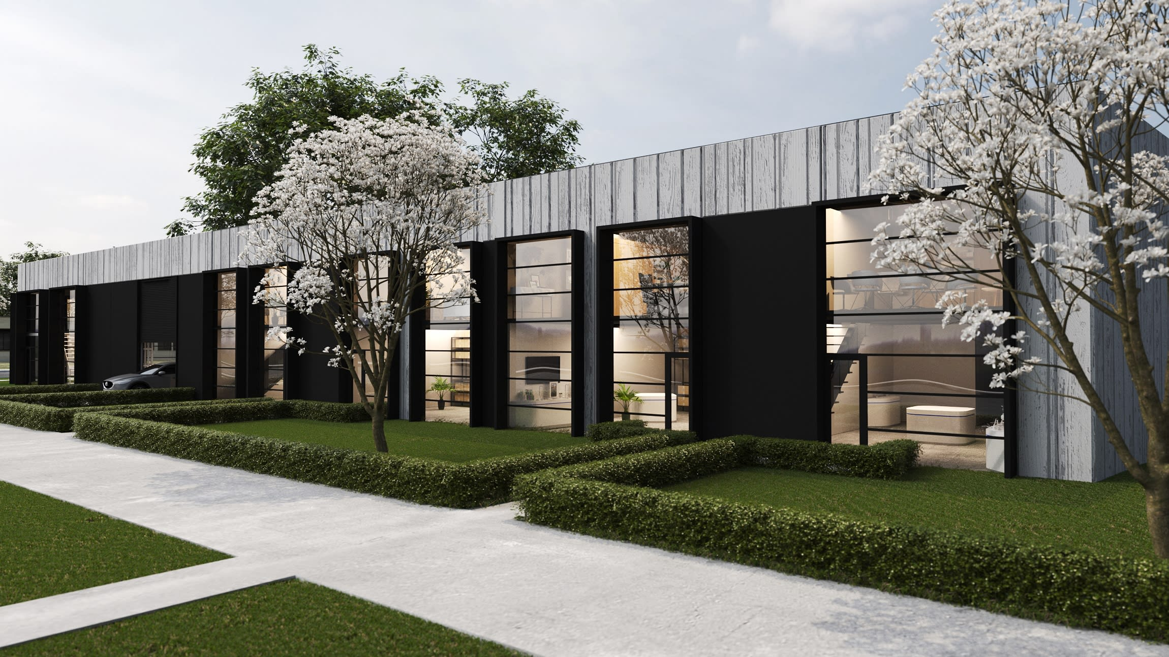 The Atlantic Business Park - Photorealistic Render From Cylinders Dr