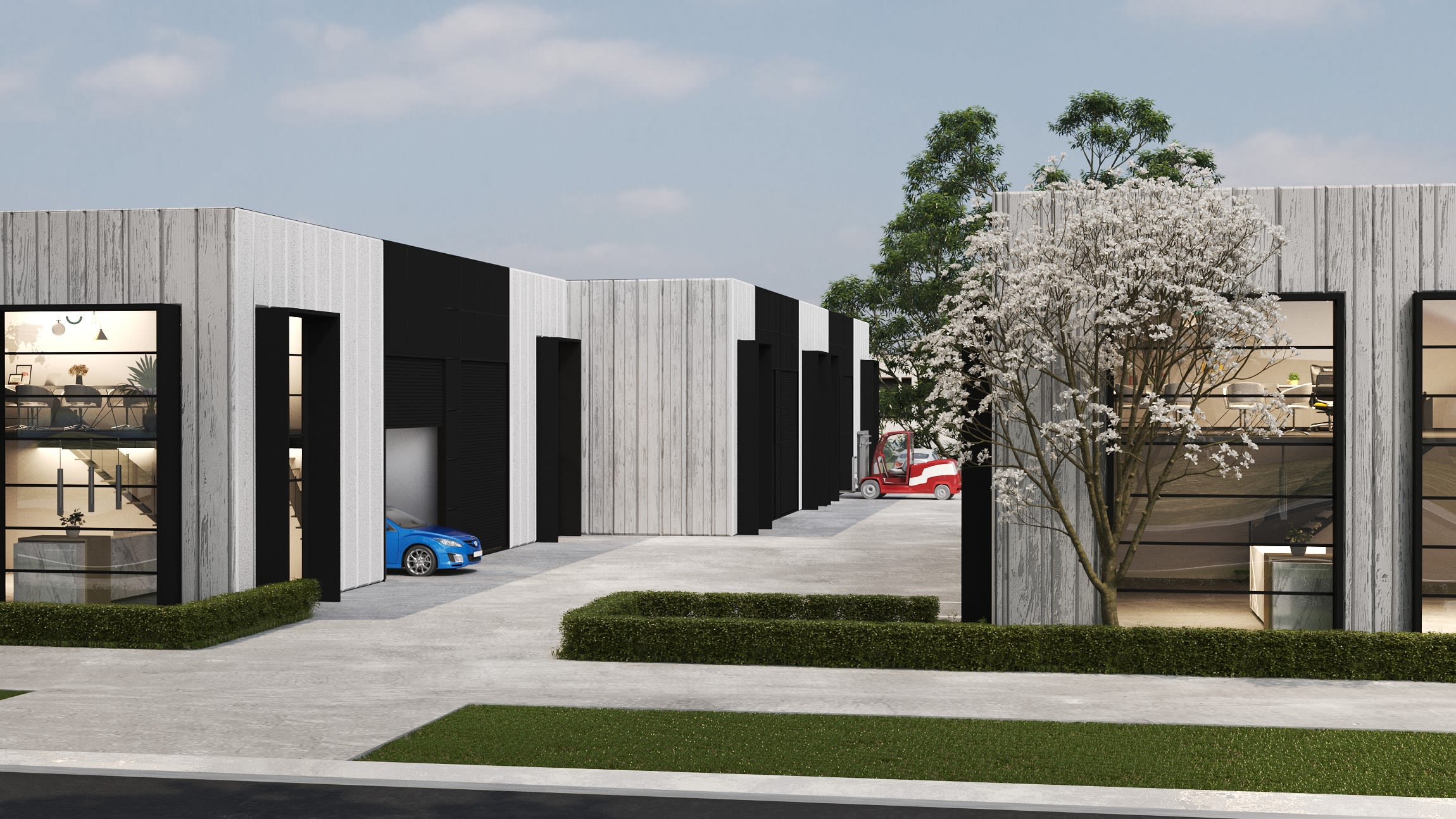 The Atlantic Business Park - Photorealistic Render Of Haystacks Dr Entry