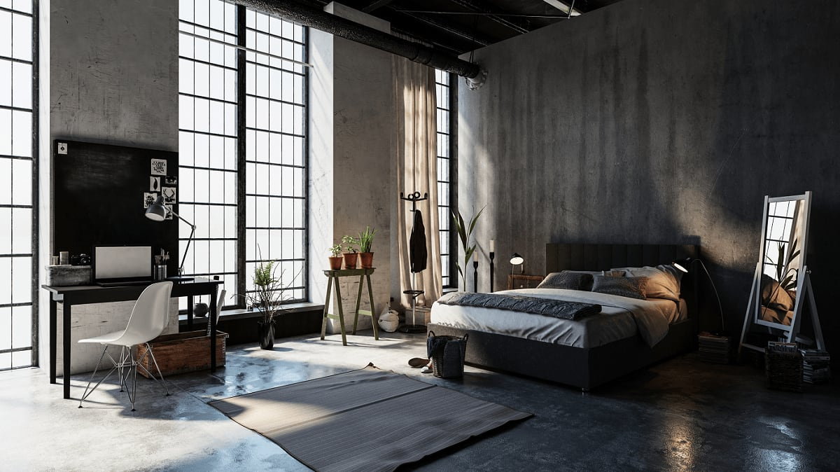 Photorealistic 3d Render of Architecturally Designed Home Bedroom
