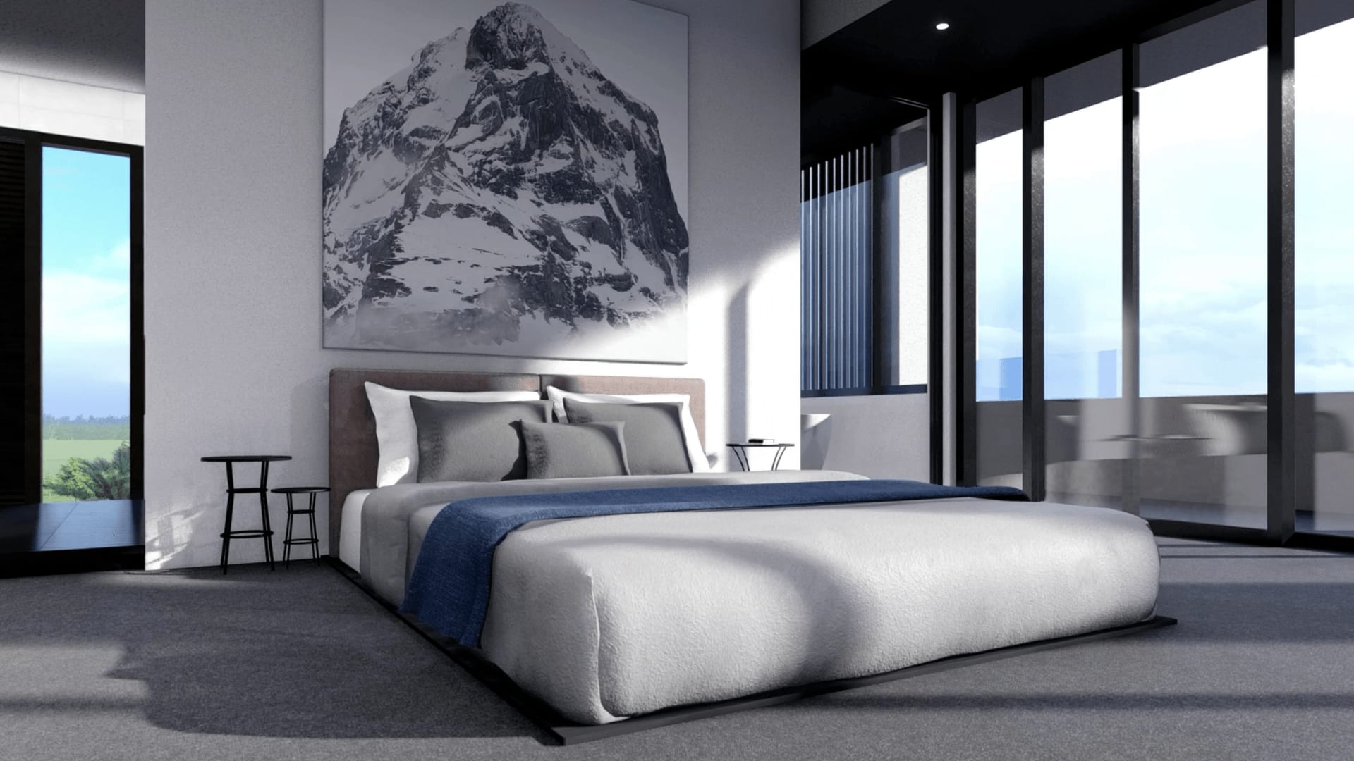 Photorealistic 3d Render of Architecturally Designed Home Bedroom from The Sanctuary Project (High Def)