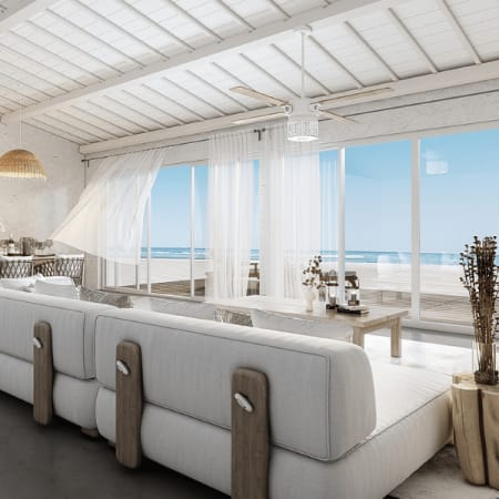 Photorealistic Render of architectural island residence