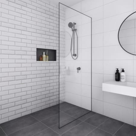 Photorealistic 3d Render of Architecturally Designed Commercial Bathroom Interior - Starpoint BP