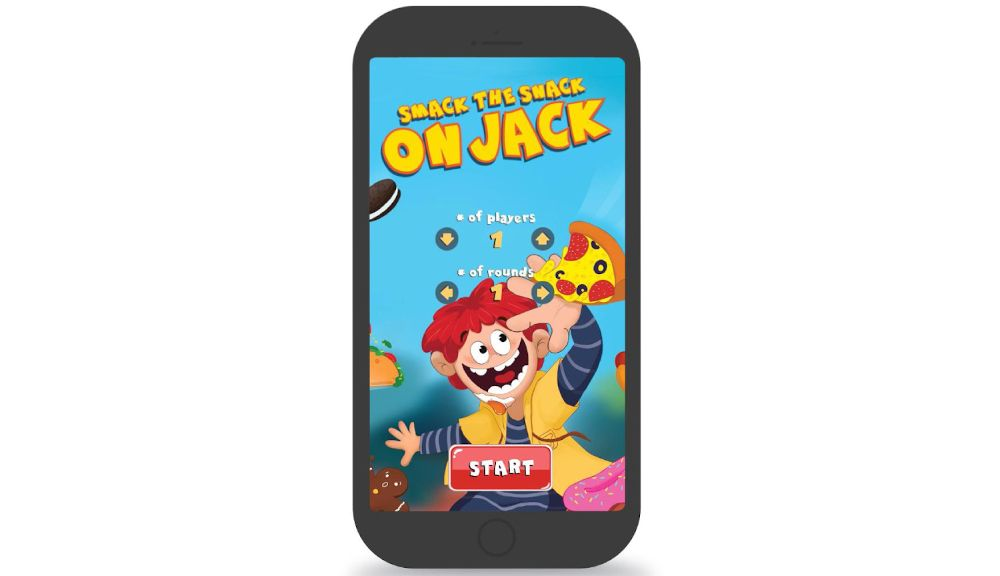 Smack the snack on Jack comes with a timer app to make your game more challenging