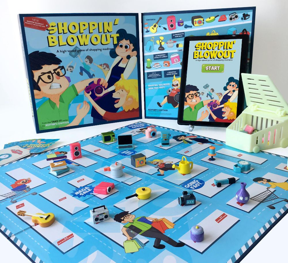 Shoppin blowout by Komarc is a high-speed boardgame