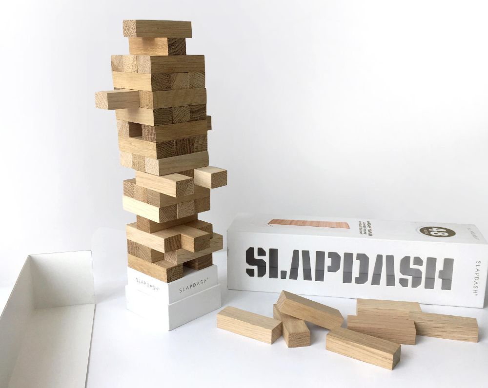 Slapdash by Komarc Games has a clever artistic packaging