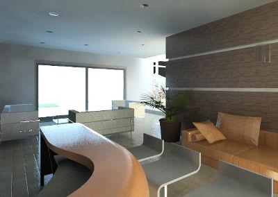 Render Del Diseño Interior Para Una Casa Moderna. Diseño Realizado Por Dyccya Arquitectos, Despacho de Arquitectura en Monterrey, N.L.