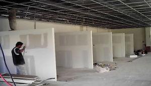 Instalación de Muros de TablaRocca en local comercial. Remodelación de Oficinas Dyccya Arquitectos Monterrey Mexico D.F.