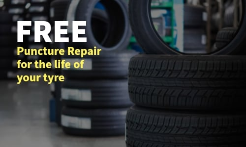 free puncture repair for the life of your tyre