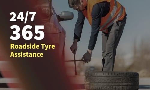 24/7 365 roadside tyre assistance