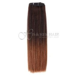 50% Italian Mink®  - Machine Weft Natural Perm Straight Ombr...