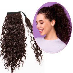 Human Hair Velcro Ponytail - Waterwave 16