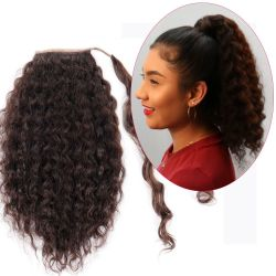 Human Hair Velcro Ponytail - European Wave-Thick-18