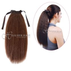 Human Hair Ponytail - Kinky Straight 14