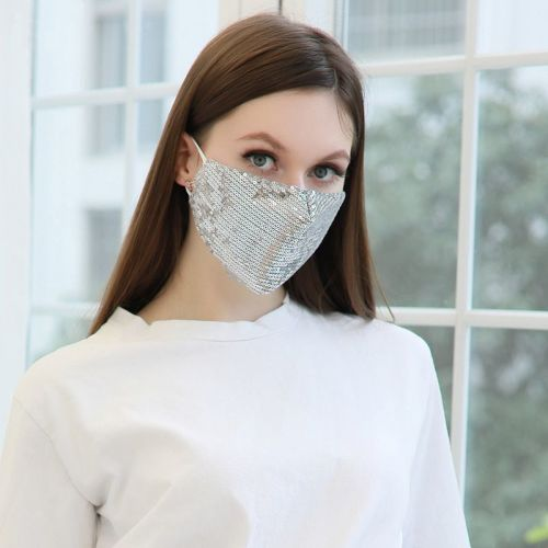Sequined Reusable Mask