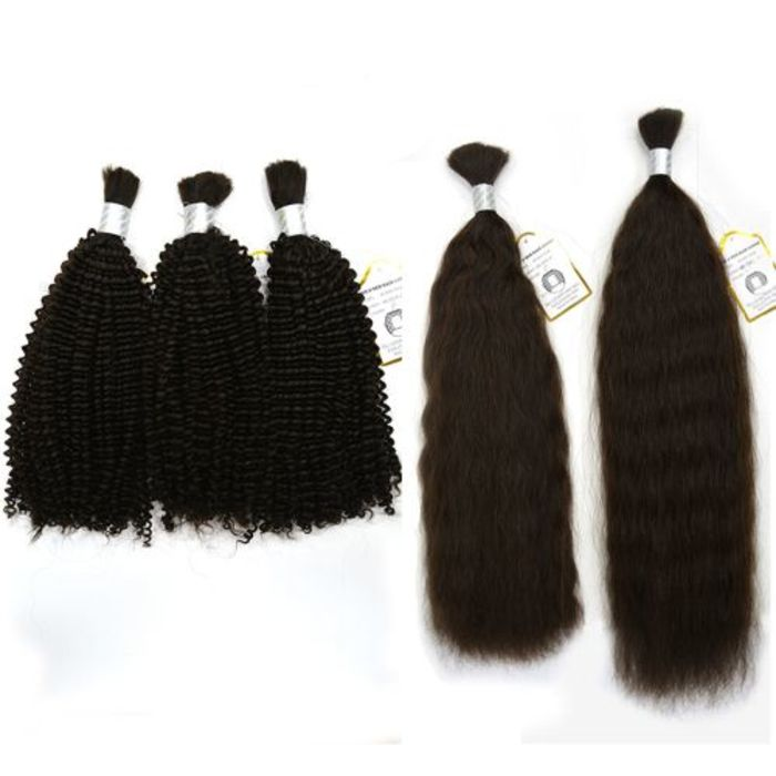 Natural Hair Extensions Human Hair Wigs Kinky Twist Weaving Supplies Indian