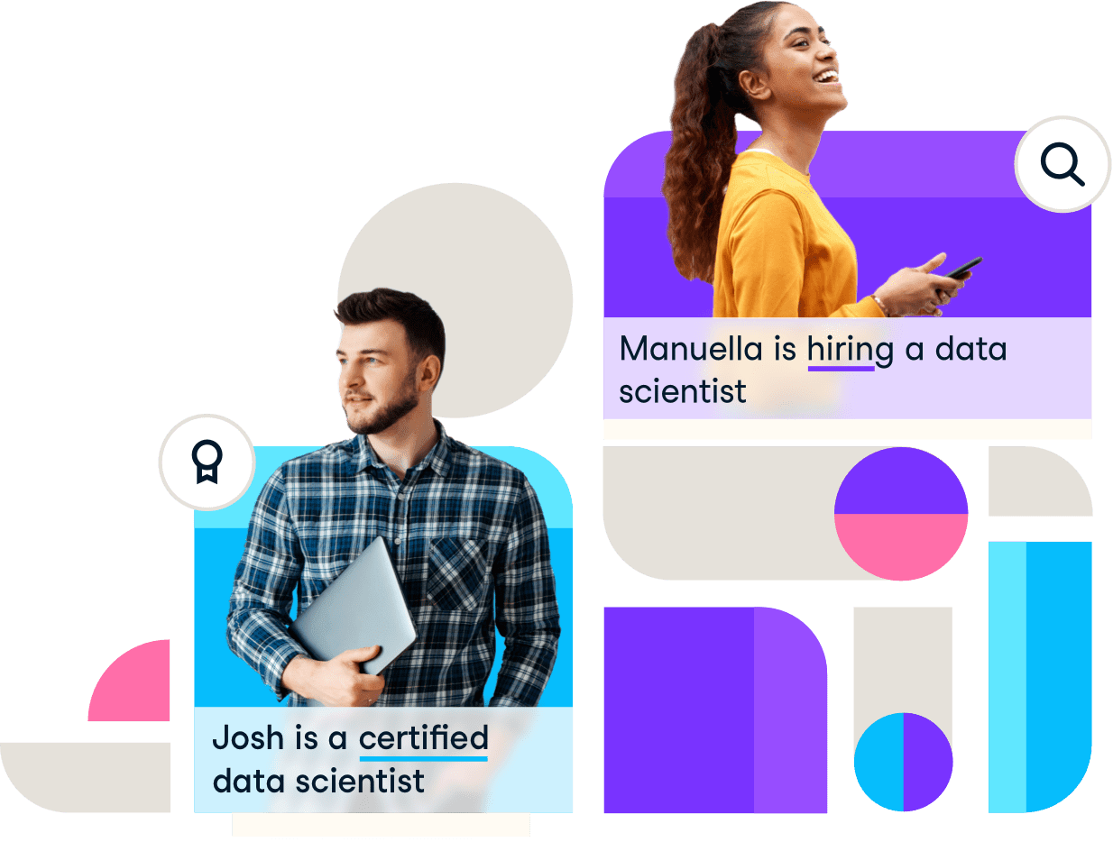 Screenshot of data scientist and hiring manager