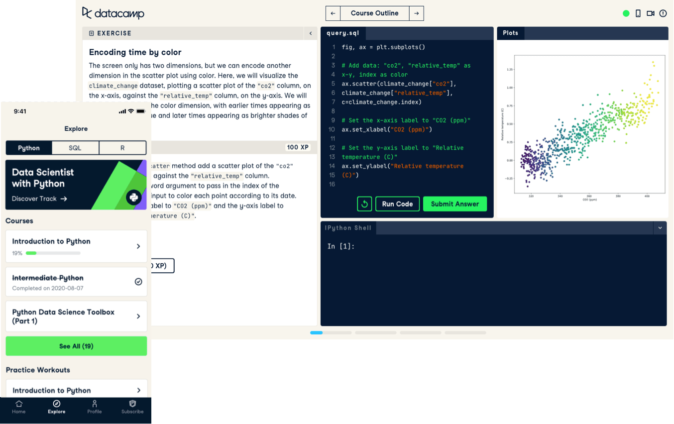 Screenshot of project code-along