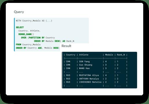 Screenshot of Summarize data