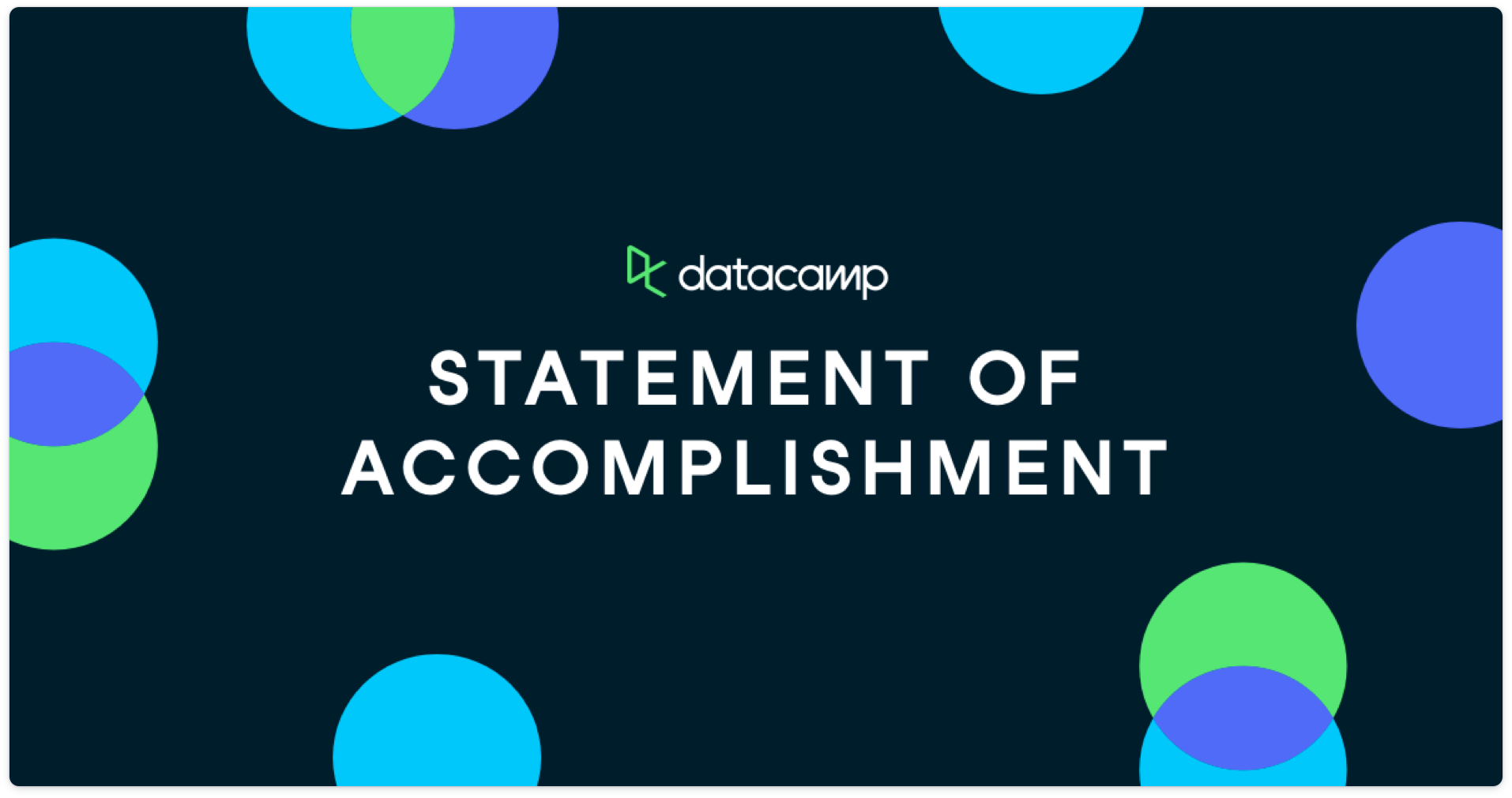 Track statement of accomplishment