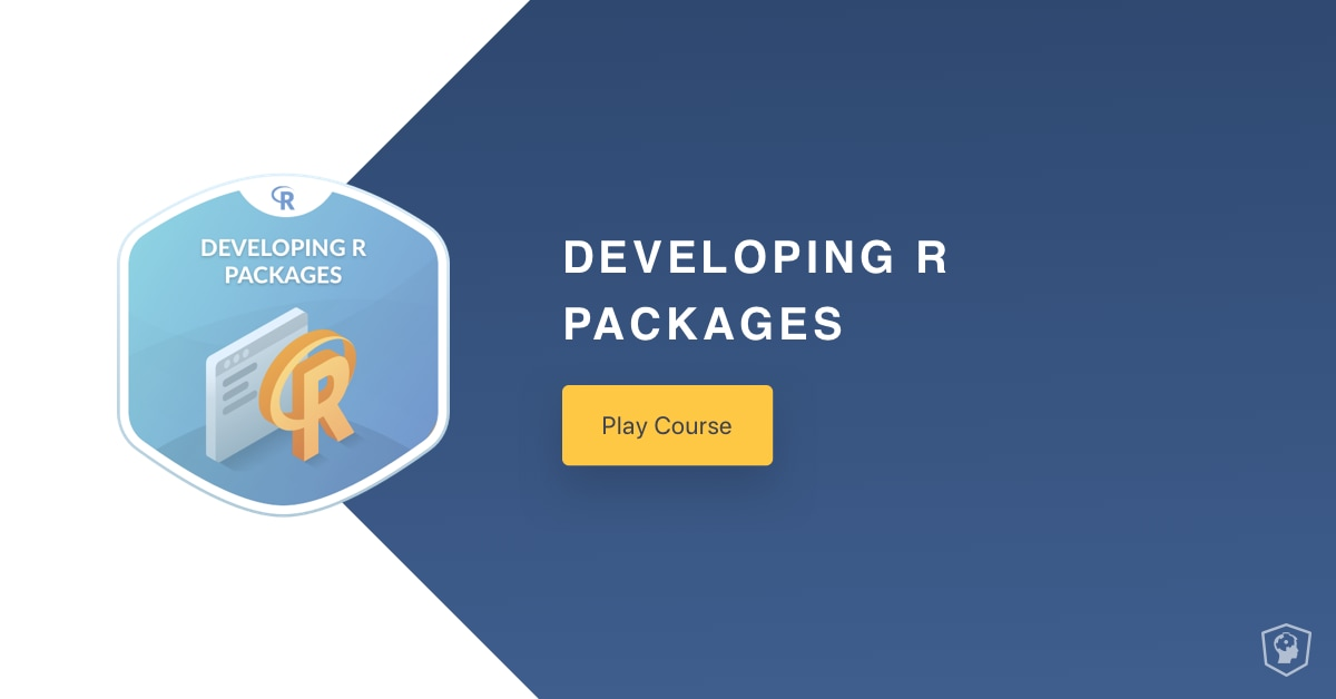 New Course: Developing R Packages