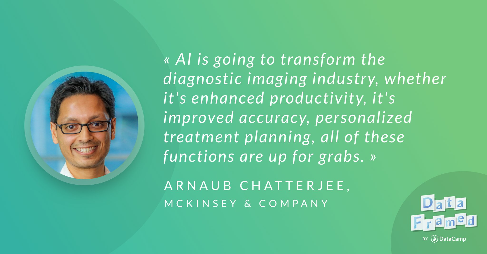 Arnaub Chatterjee discusses artificial intelligence (AI) and machine learning (ML) in healthcare.