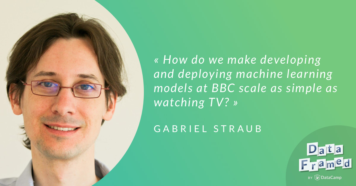 Gabriel and Hugo discuss his role on helping to make the BBC more data informed.
