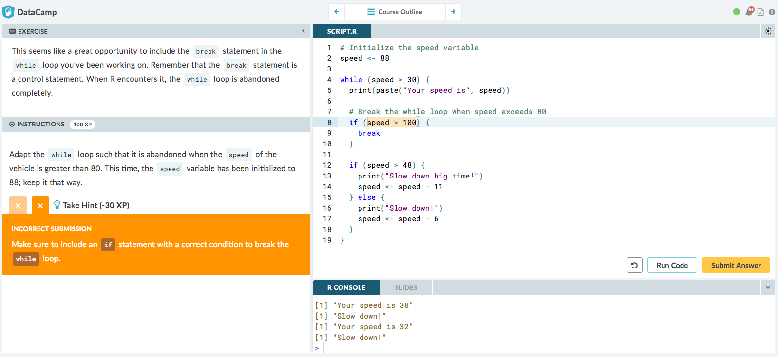 Using DataCamp's Autograder to Teach R