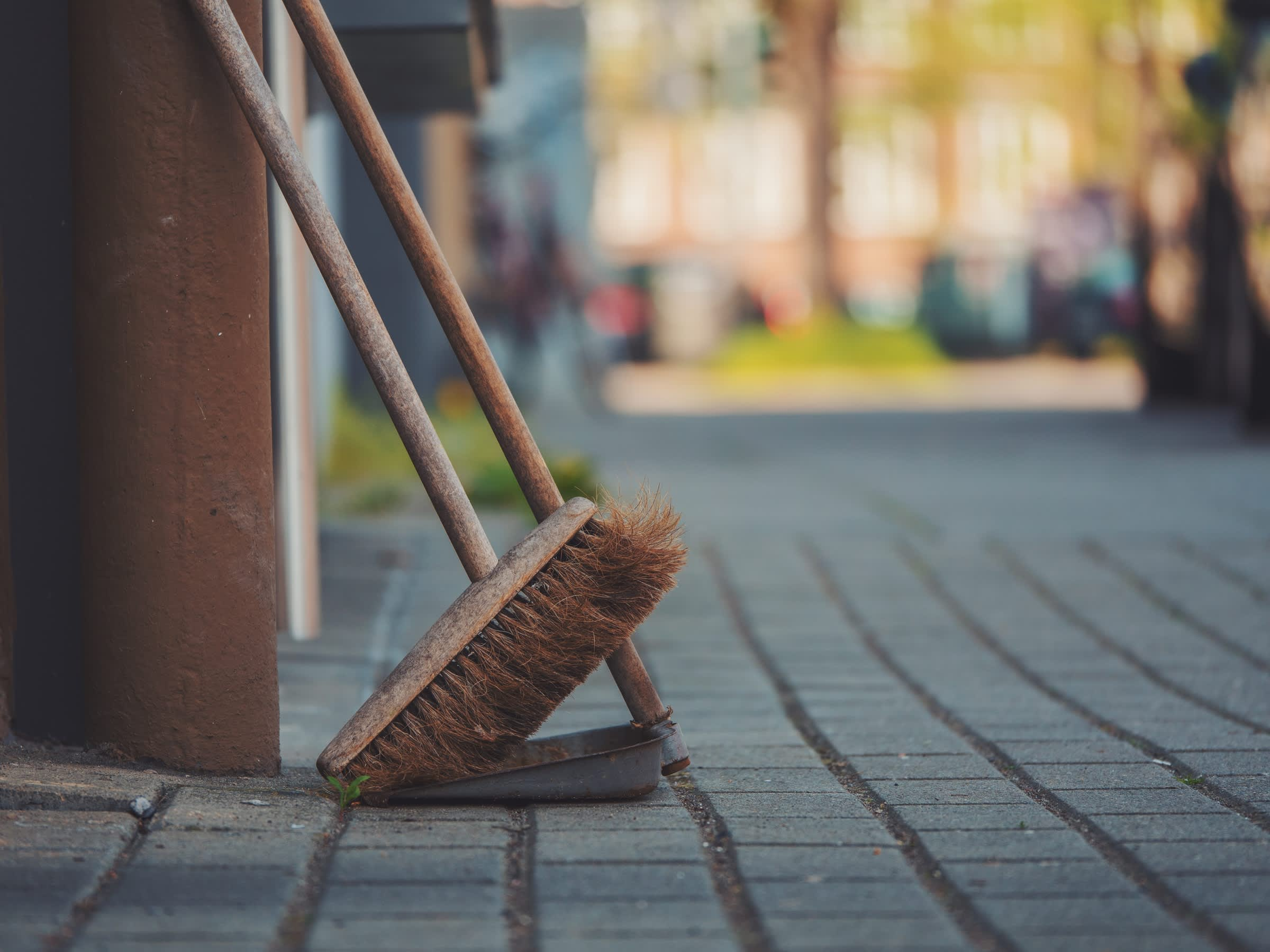 Broom and Dust Pan by Daniel von Appen