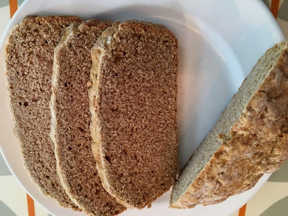 Barley Soda Bread cut into slices on a plate