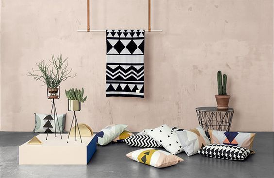 summer interior trends 2017, geometrics