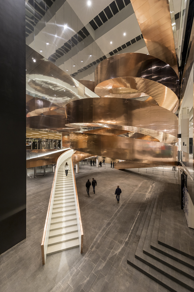 Copper helix stairs by Adam Mork