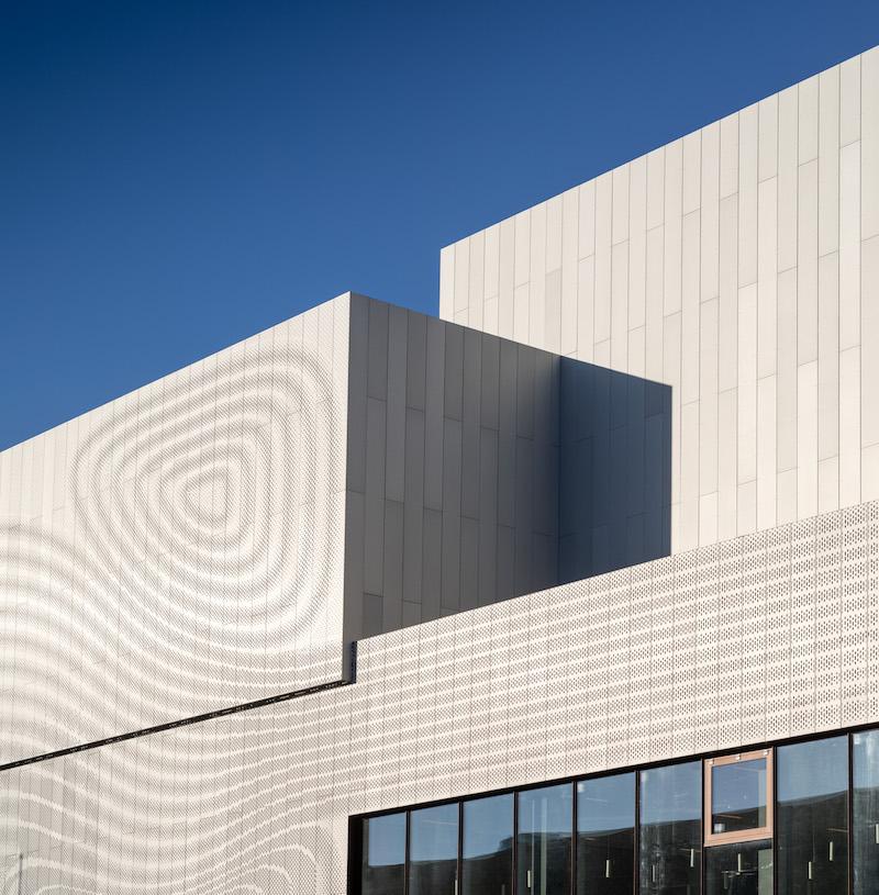 Experimentarium aluminium facade by Adam Mork