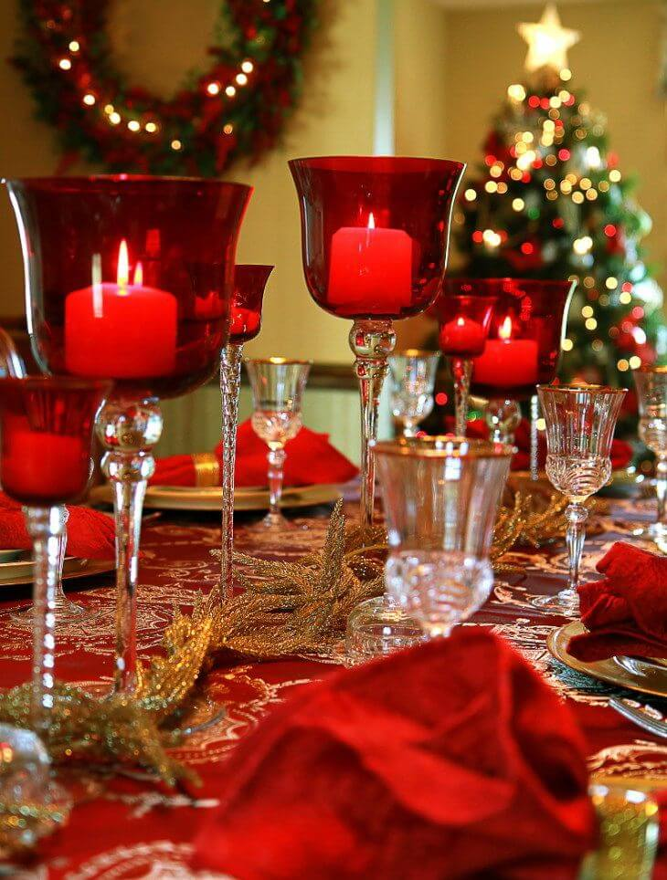 Top 5 Christmas Table Decoration Ideas Designspice Dyh Blog
