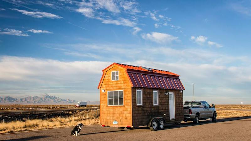 tiny house on the road