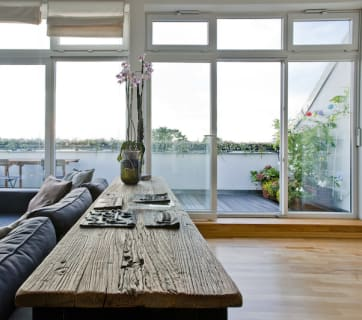 Dark Scandinavian interior design