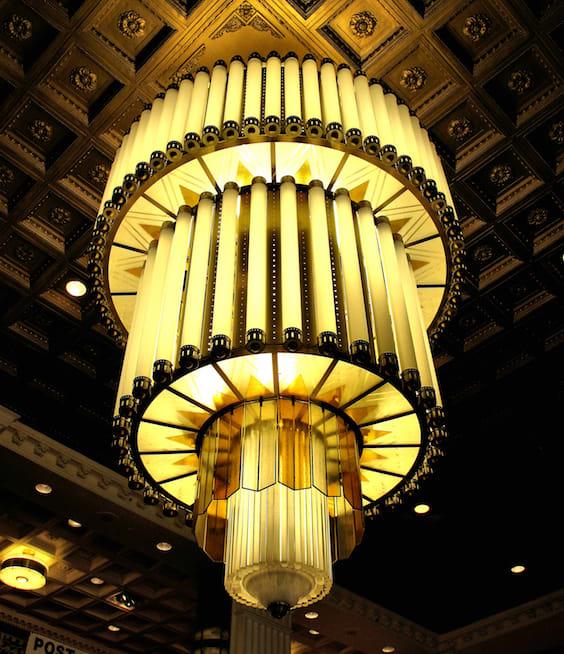 Art Deco chandelier, New Yorker Hotel