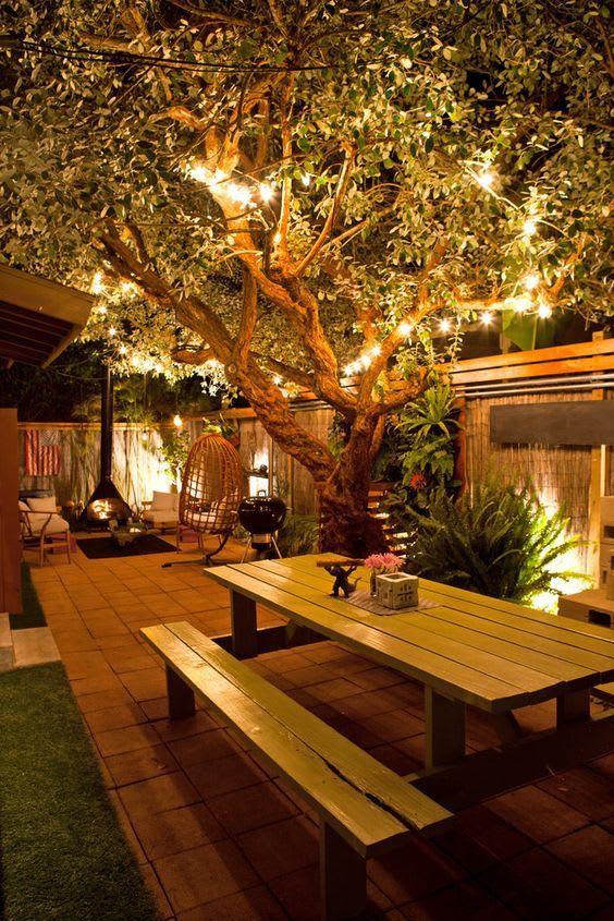 simple garden lighting