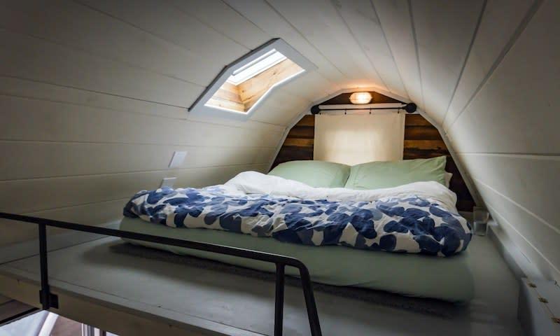 tiny house loft bed