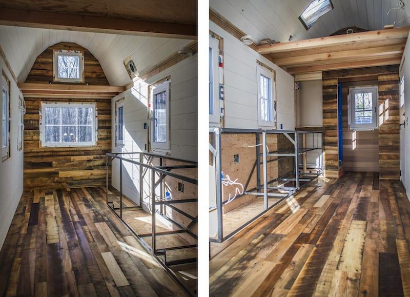 reclaimed barn wood floor