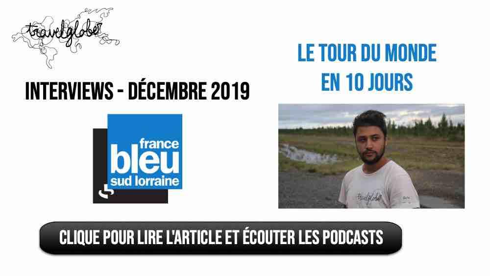 interviews voyage sur France Bleu