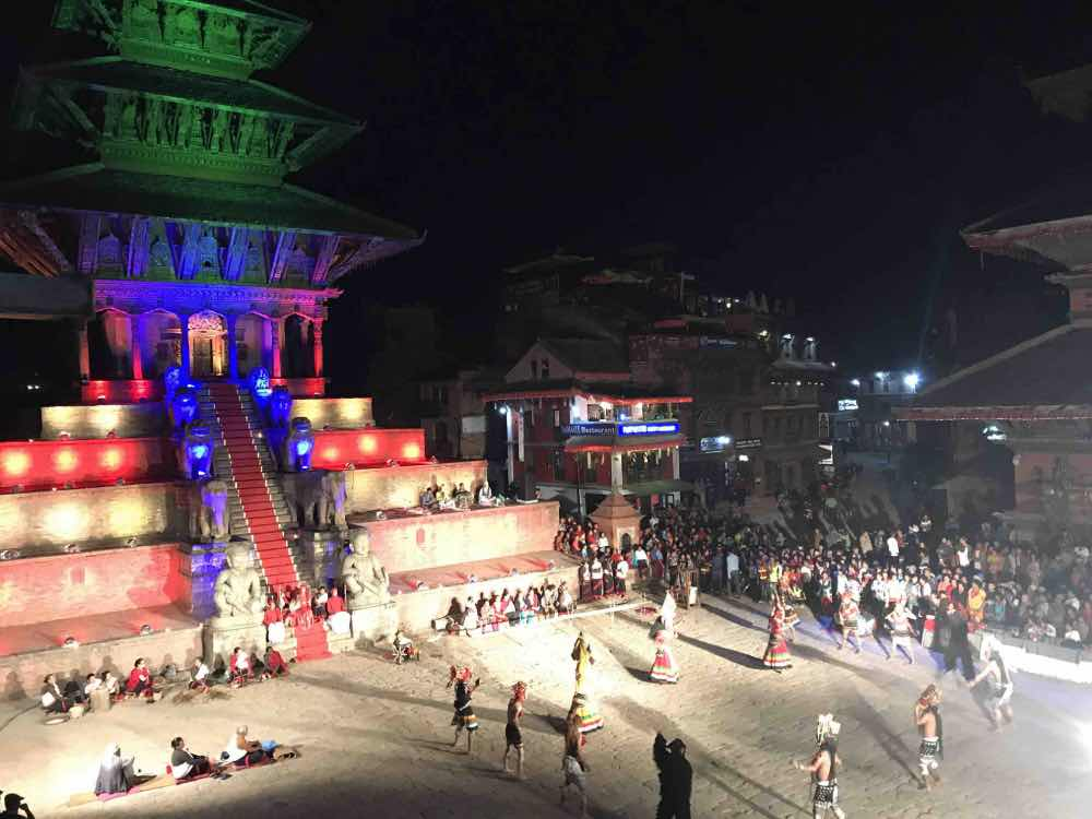 visite nocturne à bhaktapur