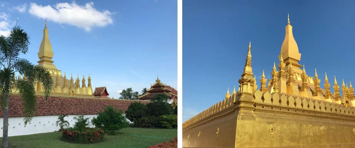 visiter monument That Pha Luang à Vientiane