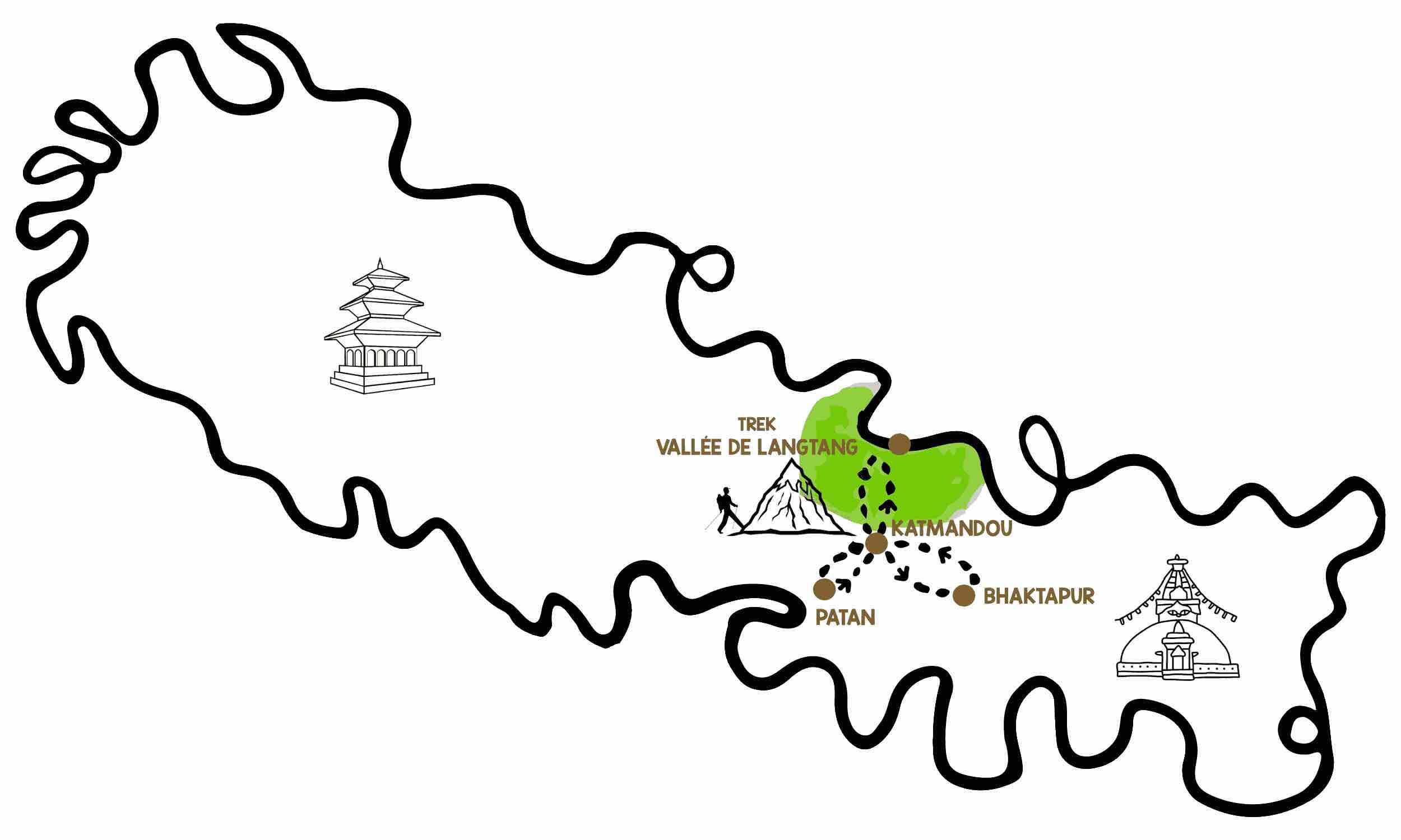 itinéraire voyage népal