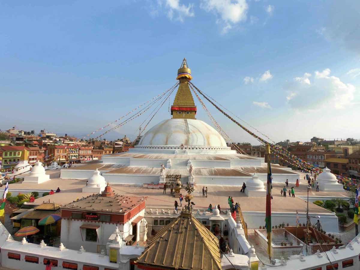 Visite de la stupa de bodnath