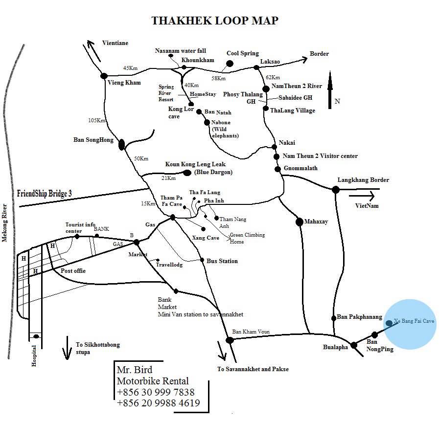 Thakhek loop au laos