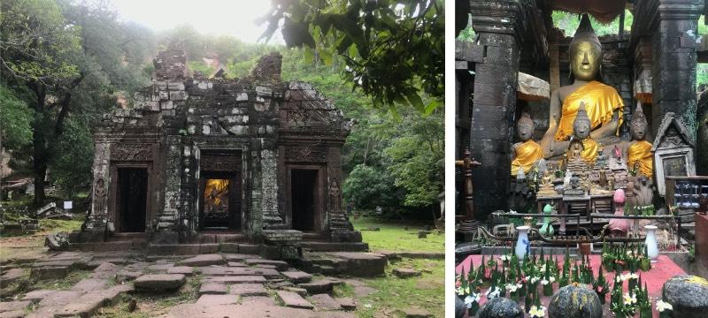 temple bouddha laos vat phou à Paksé