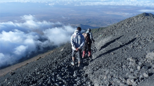 retour camp de base Mont Meru