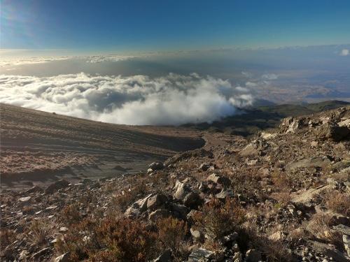 panorama montagne Mont Meru en Tanzanie